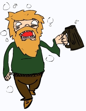A drunken Viking.