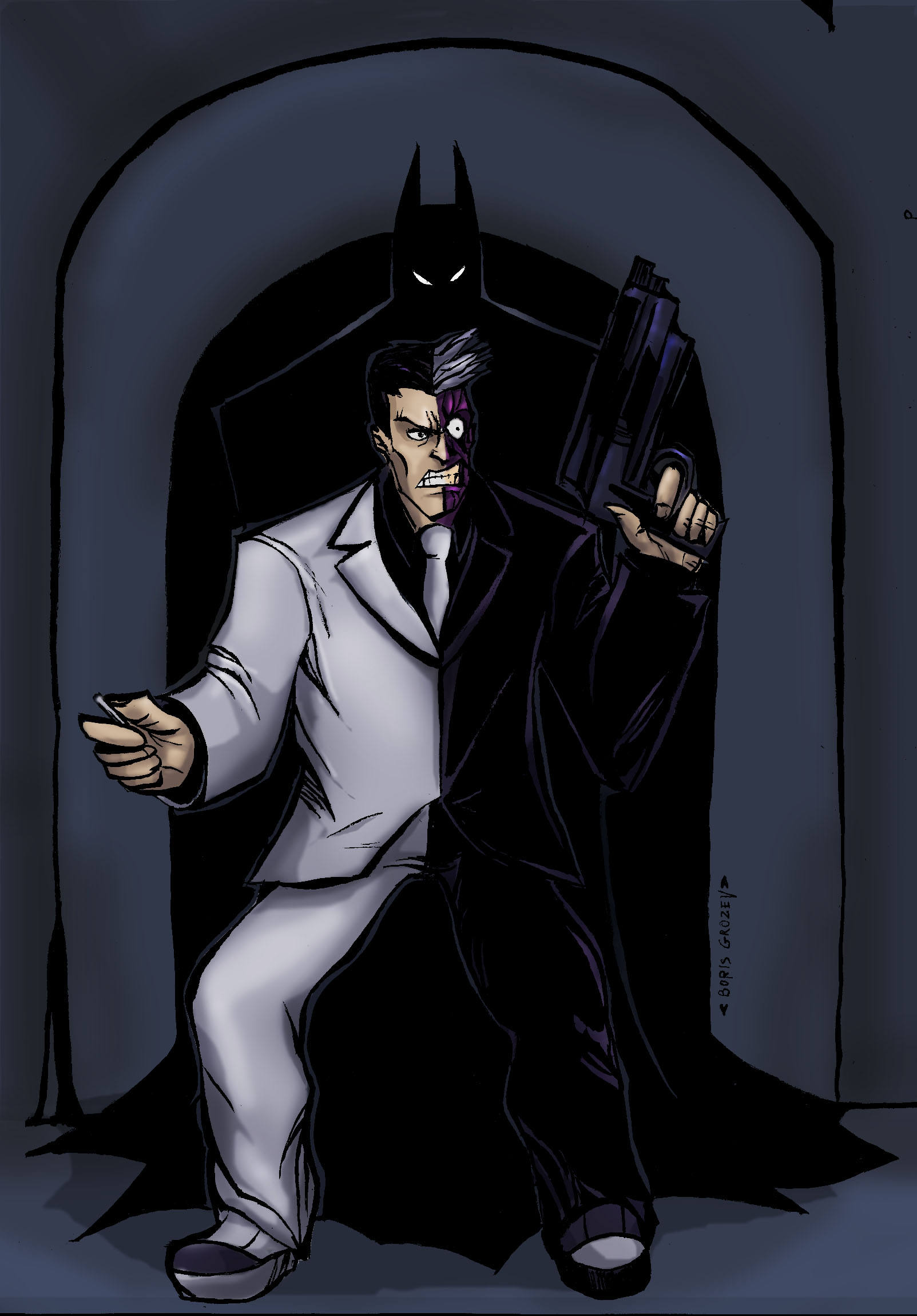 Batman vs Twoface