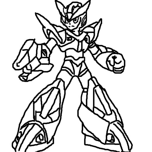 Mega man X Drawing