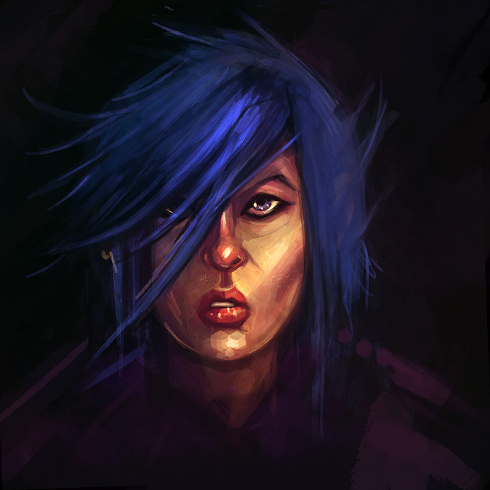 Blue Lady is Blue