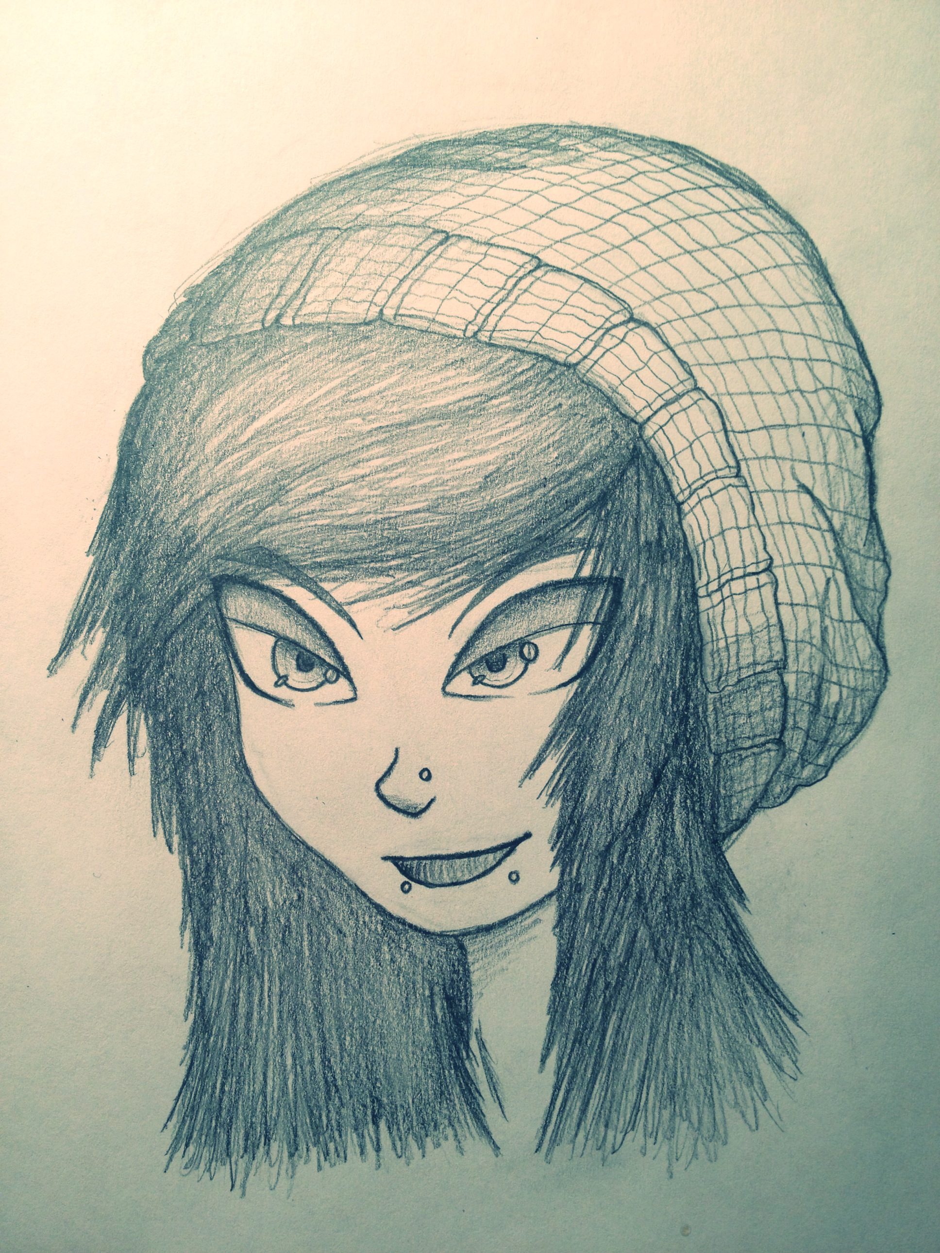 Drawings Ideas For Girls Girl With Beanie Drawing
