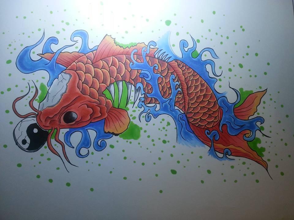 Zombie Koi fish final piece