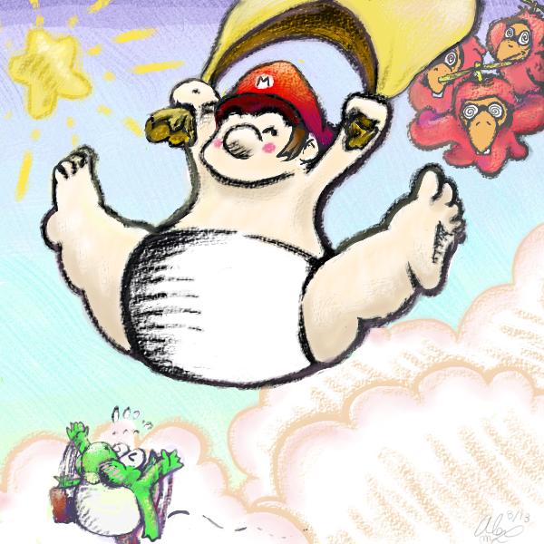 Fly! Fly! Super Baby Mario!
