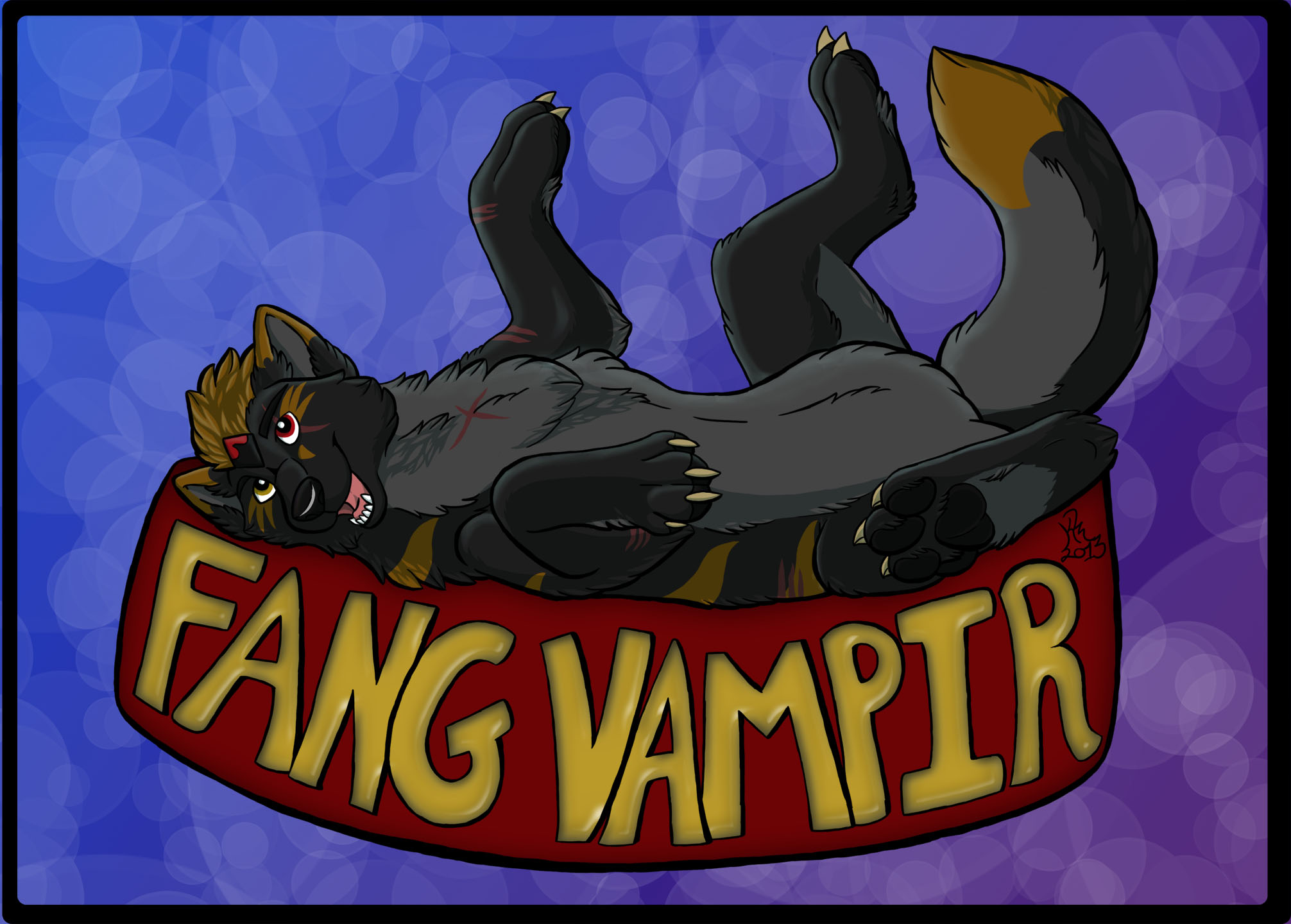 Fang Vampir Badge