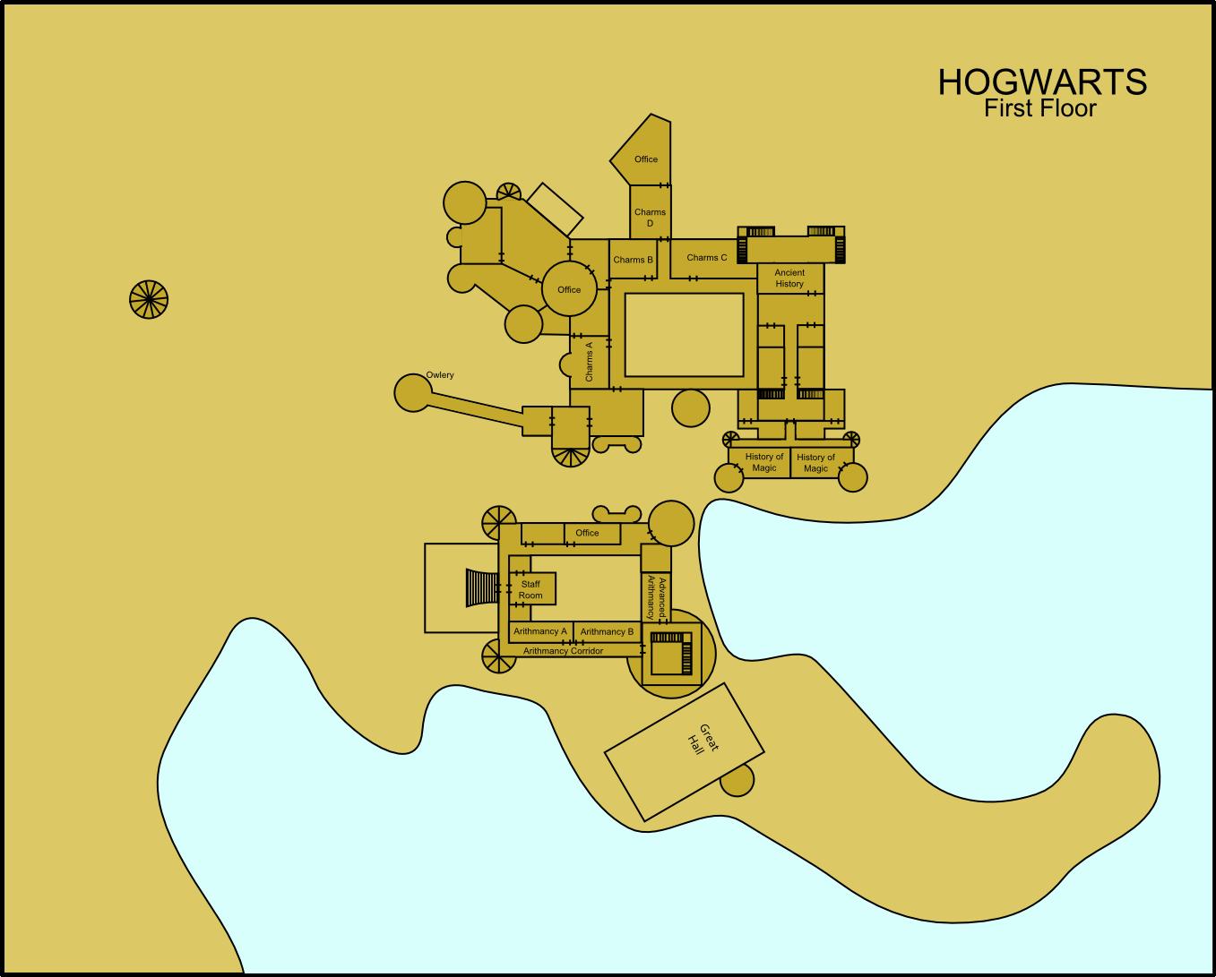 Hogwarts First Floor