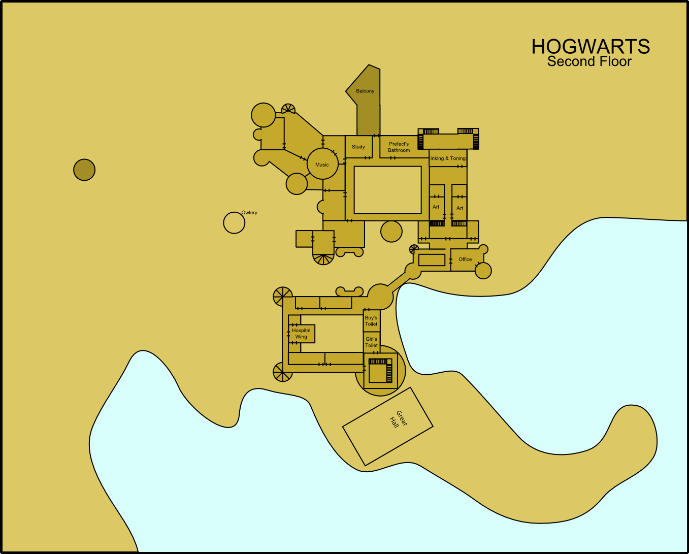 Hogwarts Second Floor