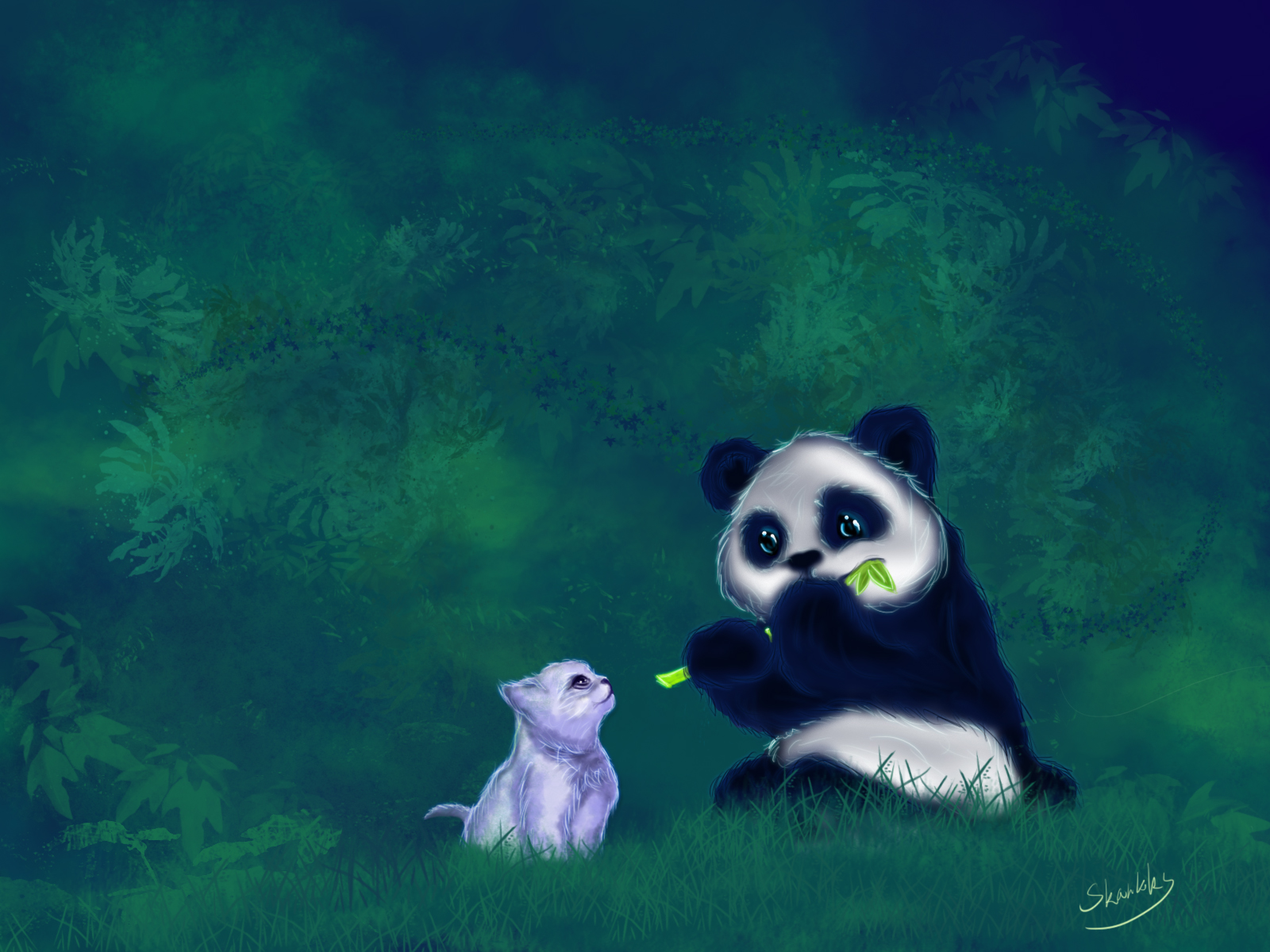 Cat and Panda
