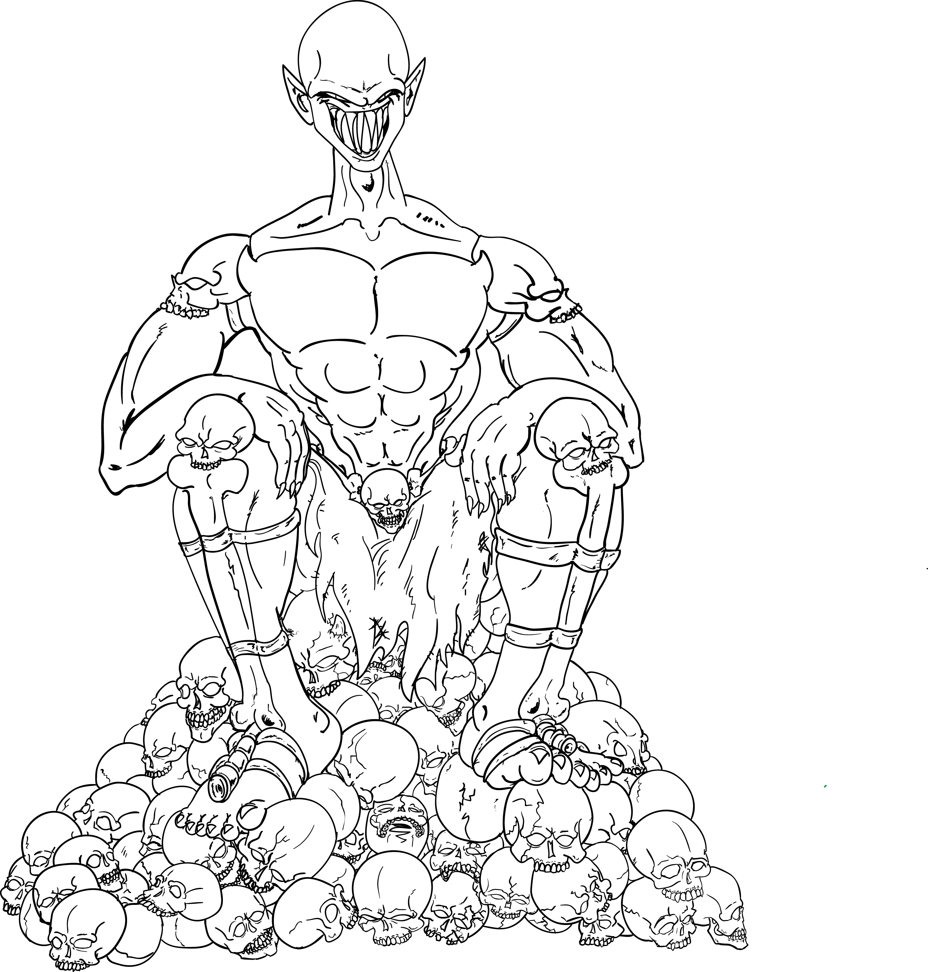 The Bone Lord (linework)