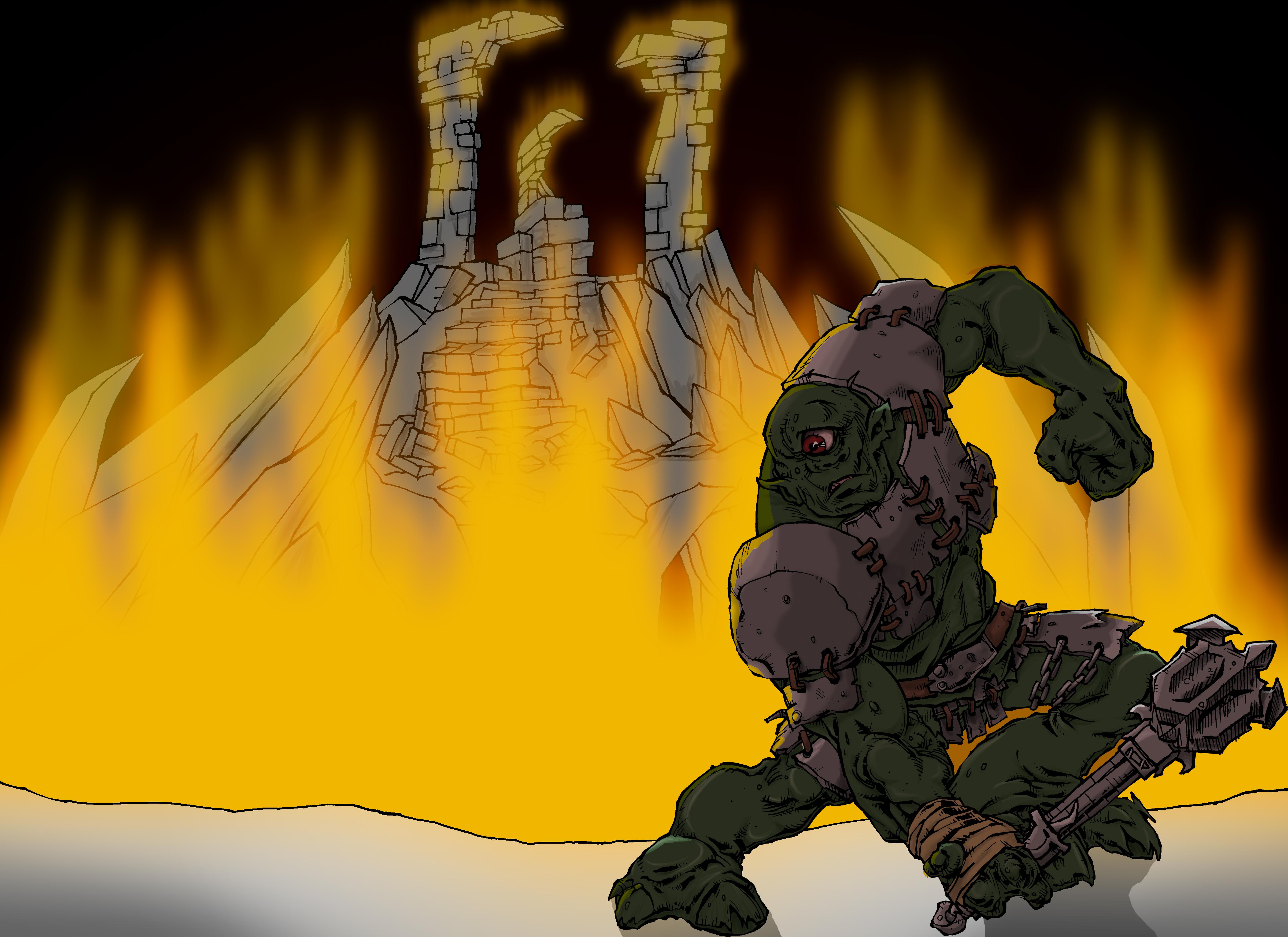 Fire troll
