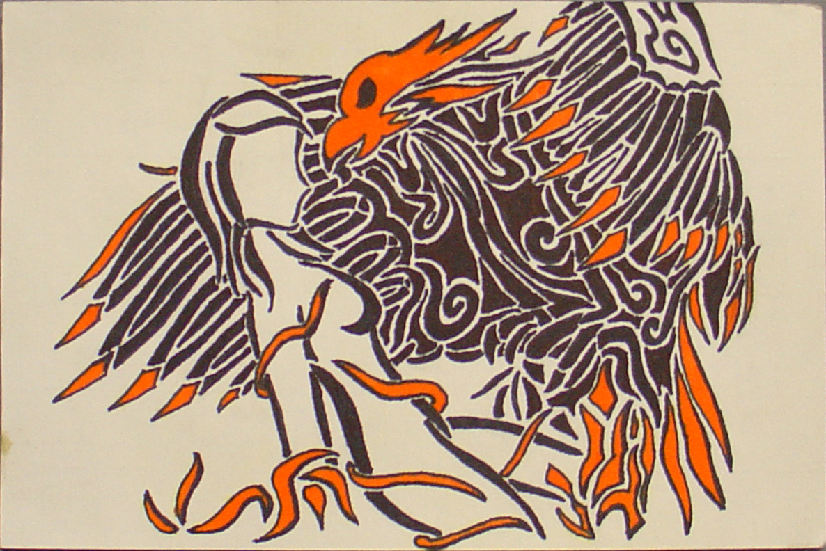 Sharpie phoenix with woman