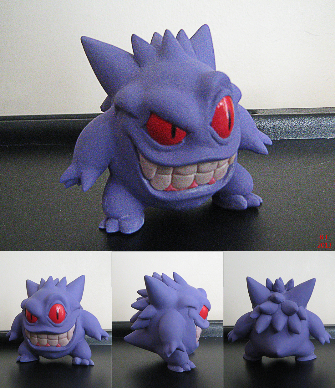 Stylized Gengar Sculpture
