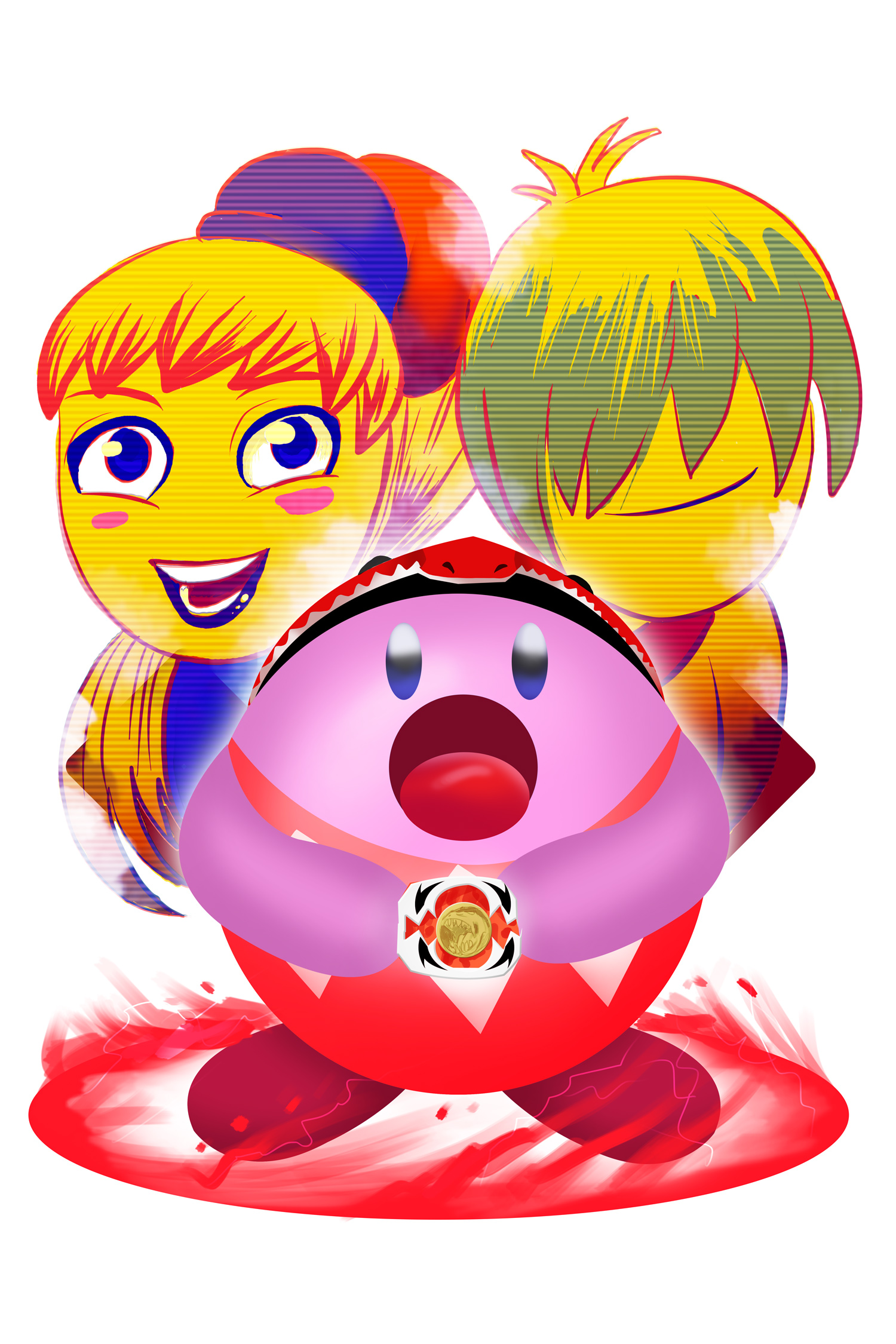 Kirby- Red power ranger
