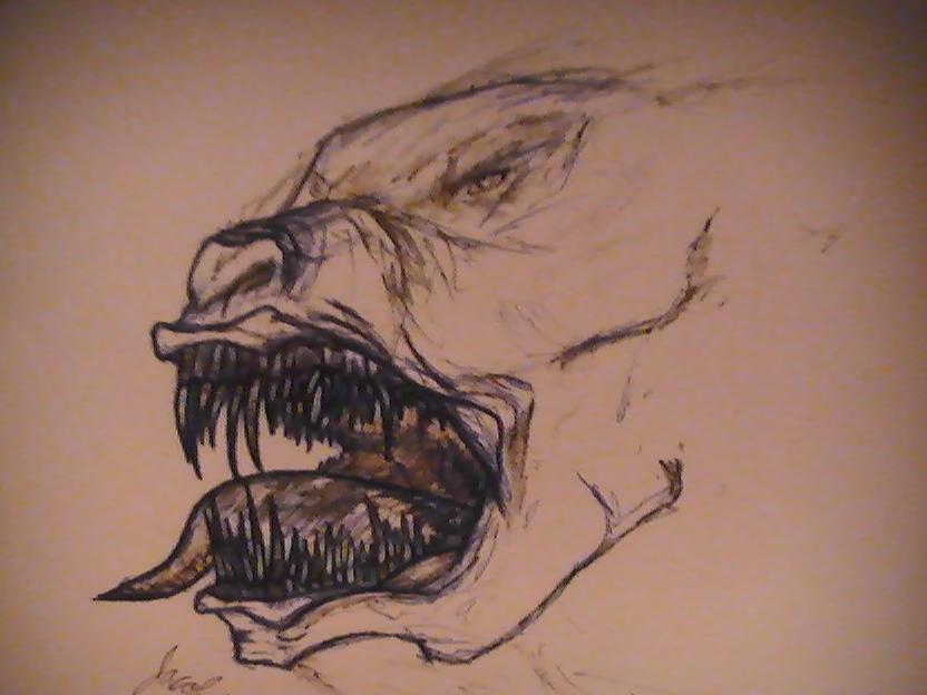Demon dog sketch