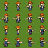 Cowboy with revolver