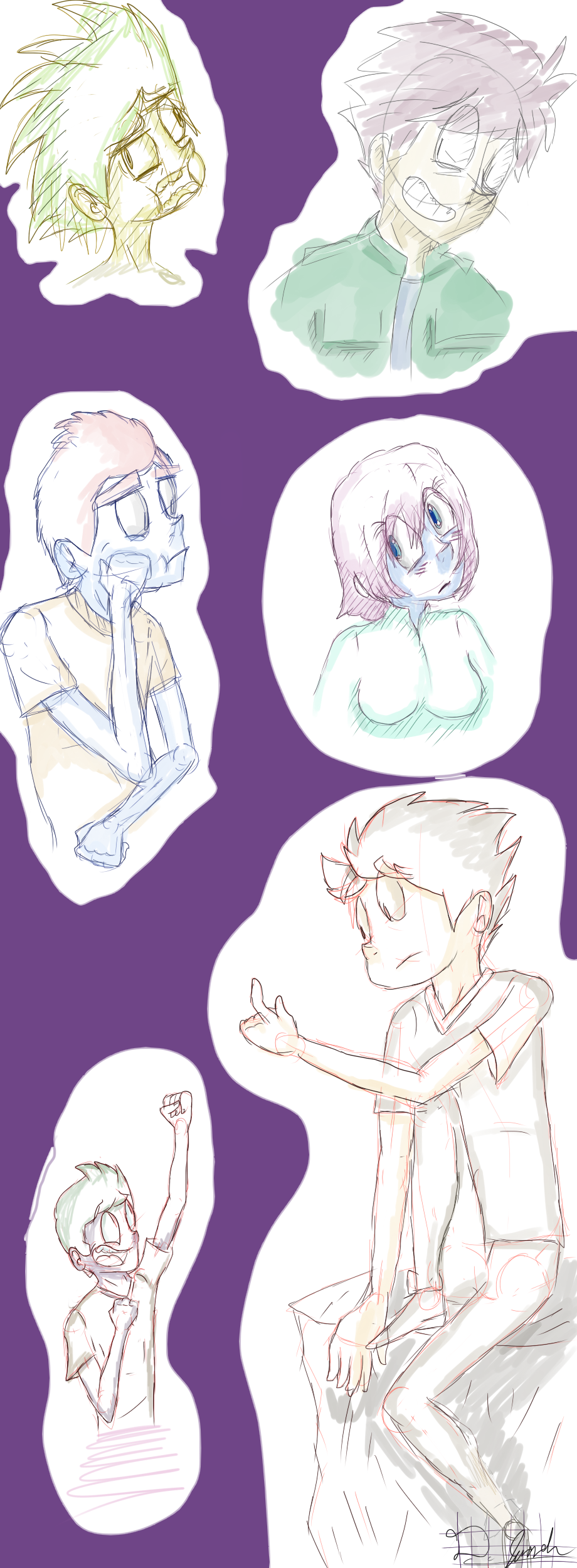 Sketches with some color