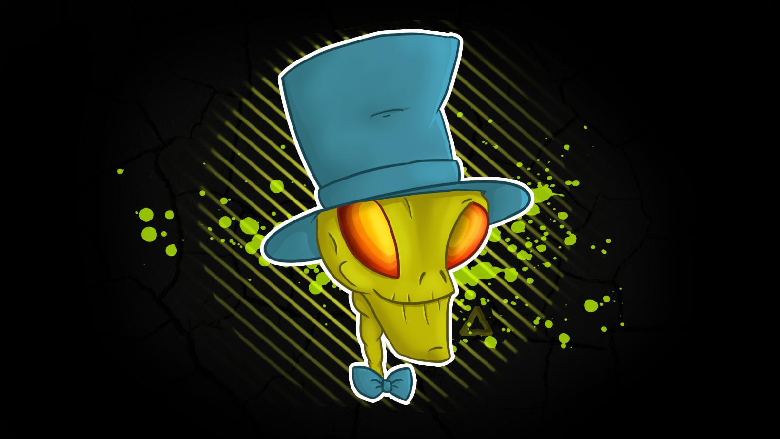 Alien with hat