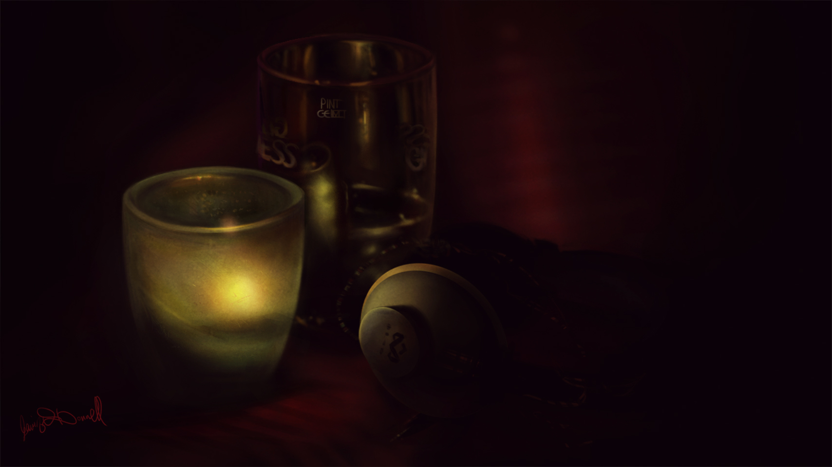Candlelight Still Life
