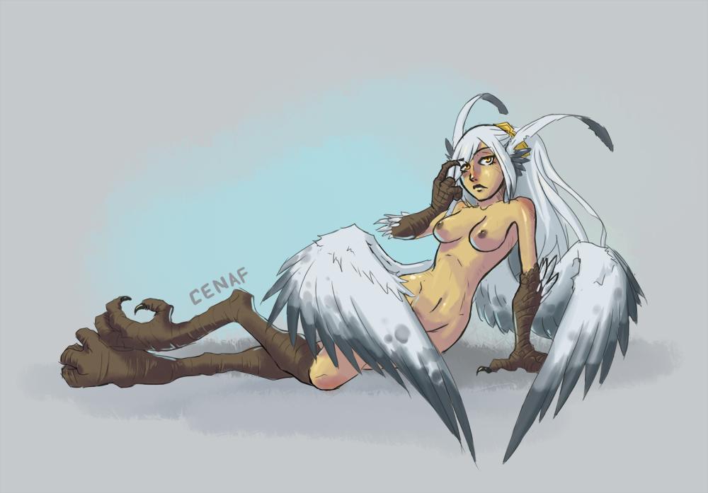 Snow owl harpy