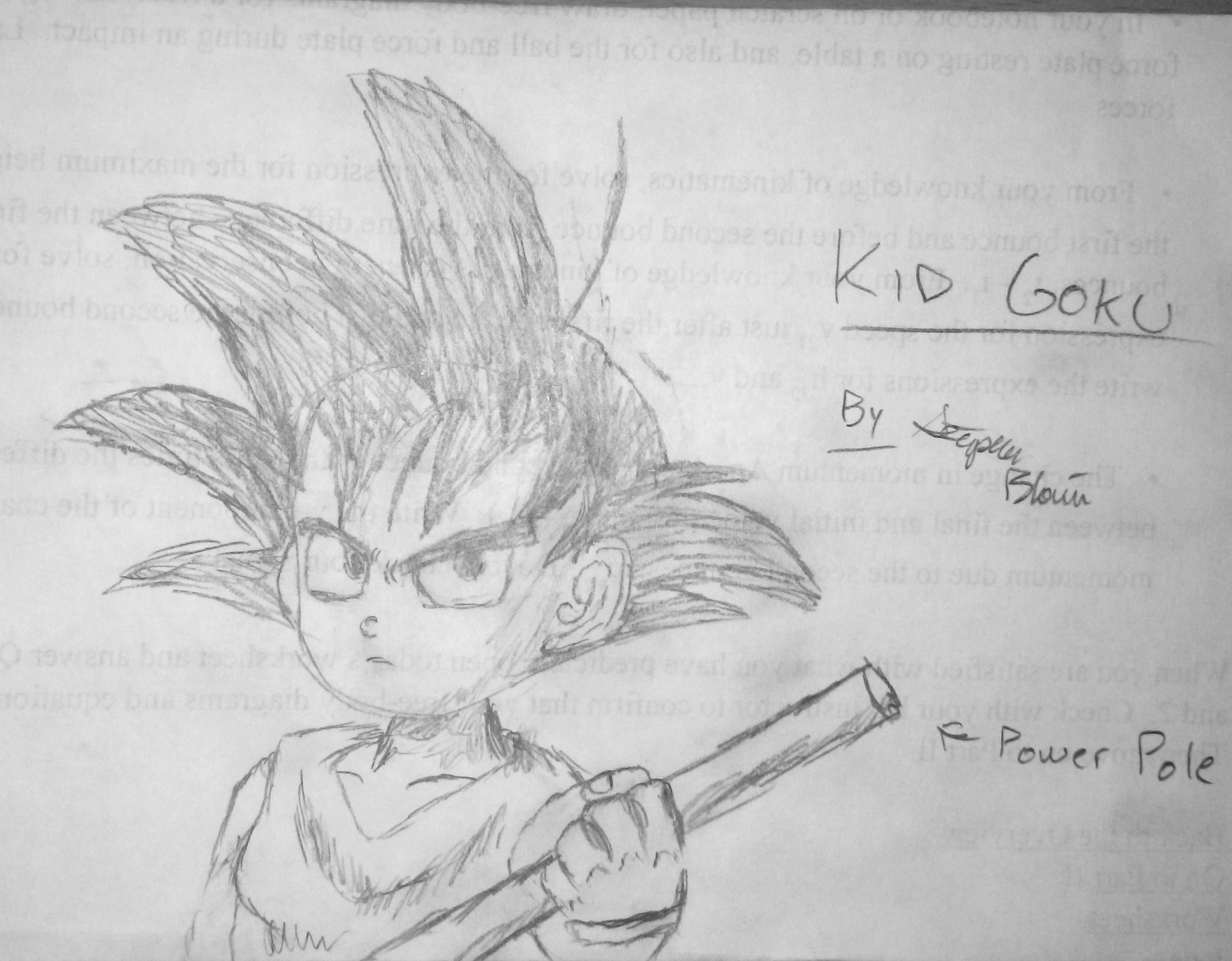 Kid Goku with his Power Pole