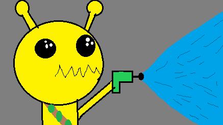 Alien Hominoid Sketch (Stupid)