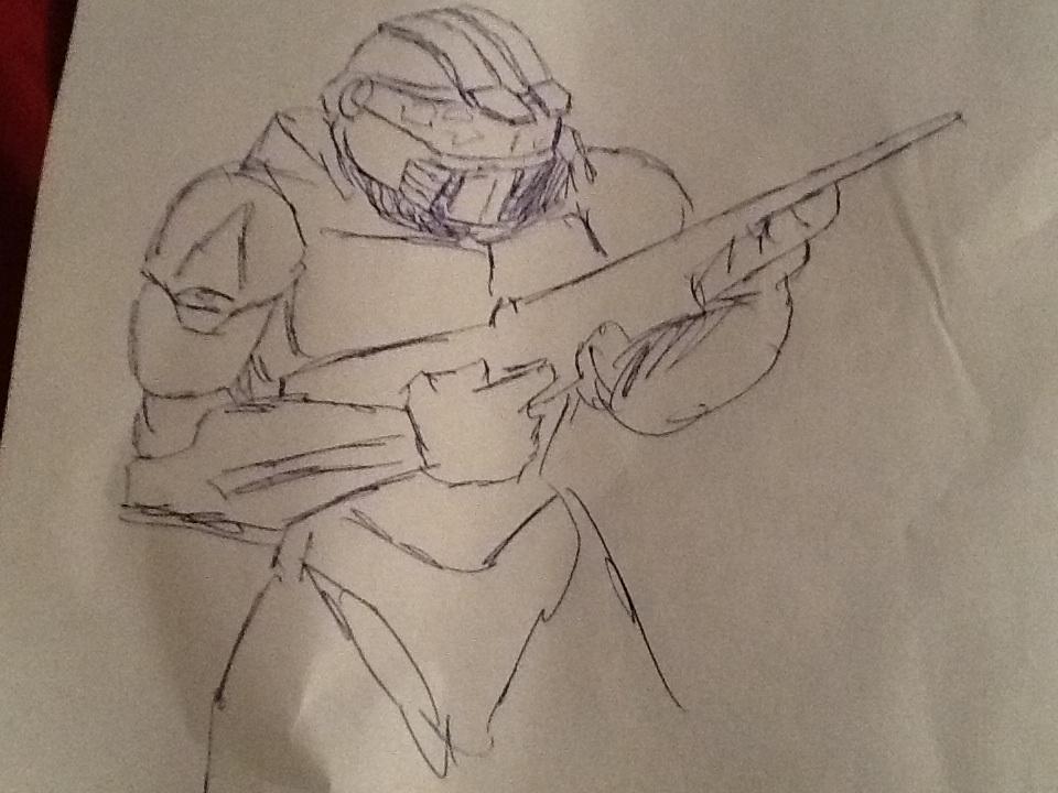 Halo master chief drawing