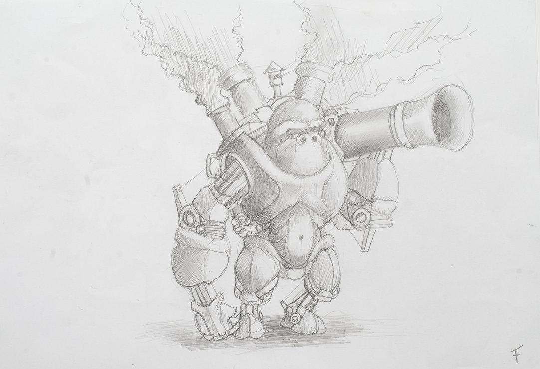 Steam-Powered Combat Robot Ape