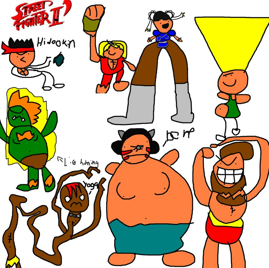The cast of Street Fighter II