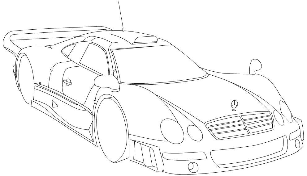 mecades CLK-GTR line-art