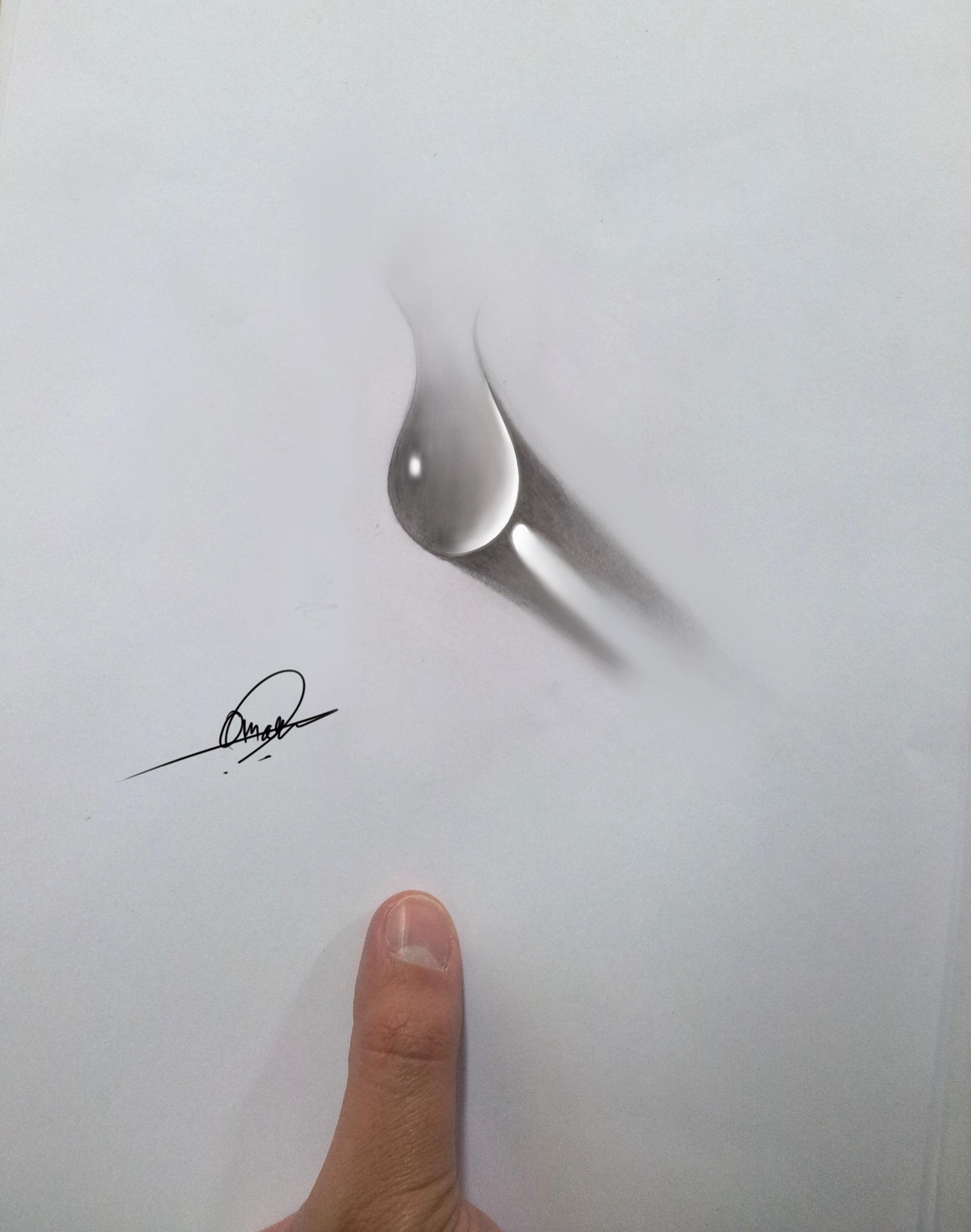 3D Realistic water Drop