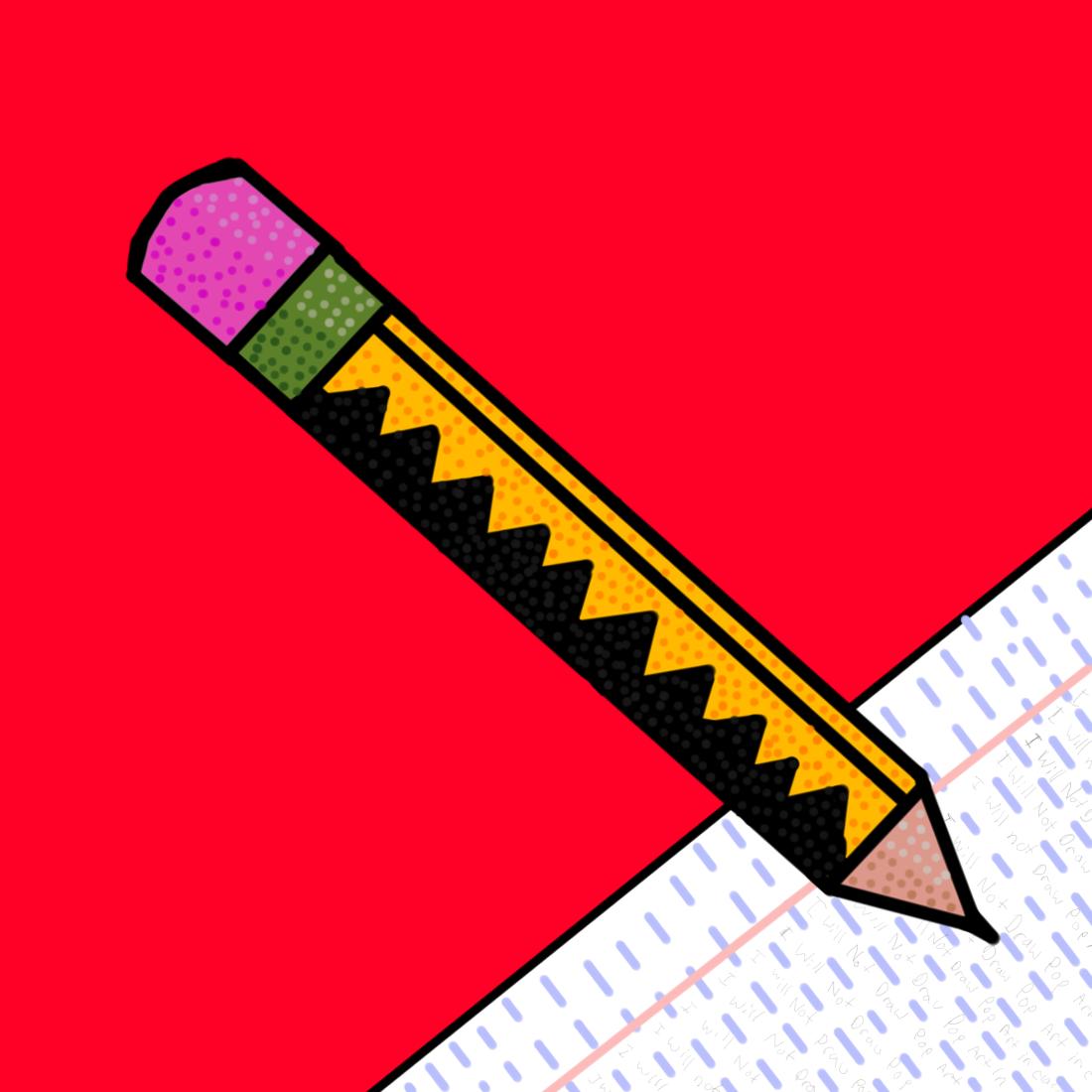 Pencil Pop Art