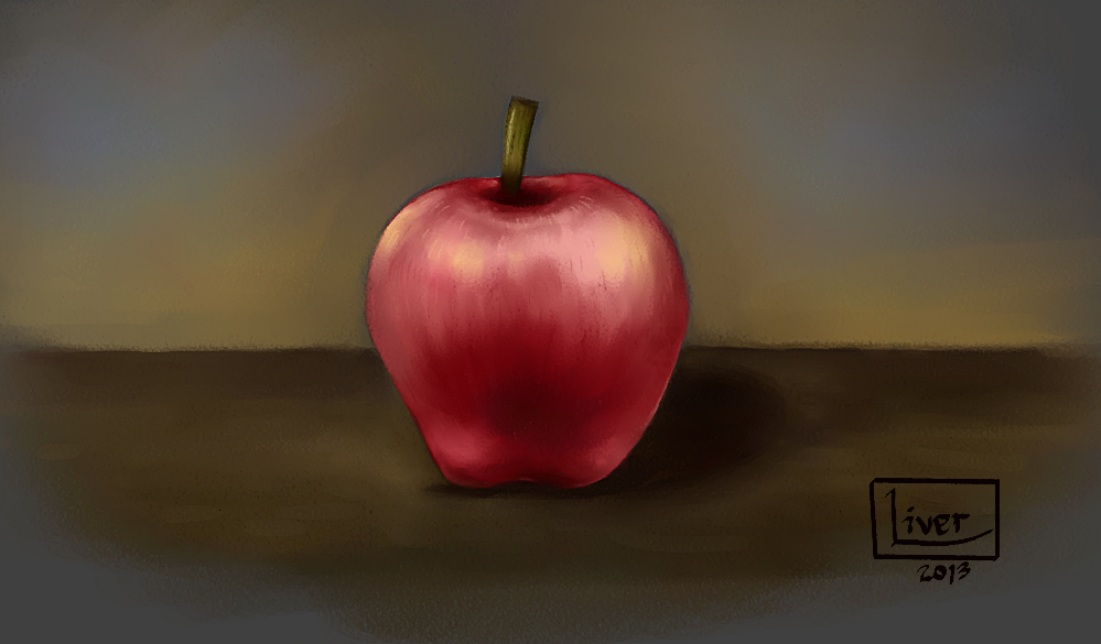 Apple - painting exercise