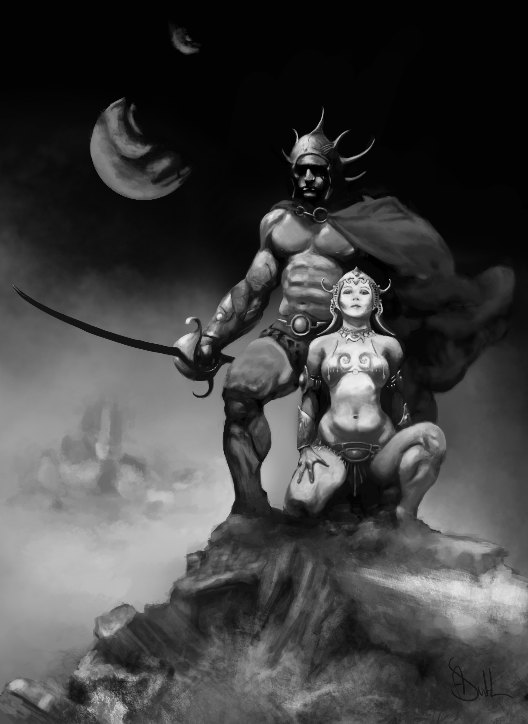 Frank Frazetta Study 02 Value