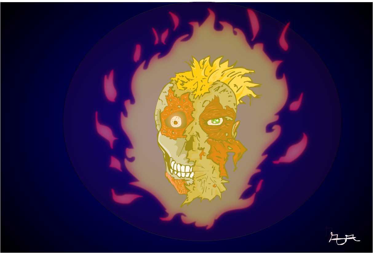 SKULL burn