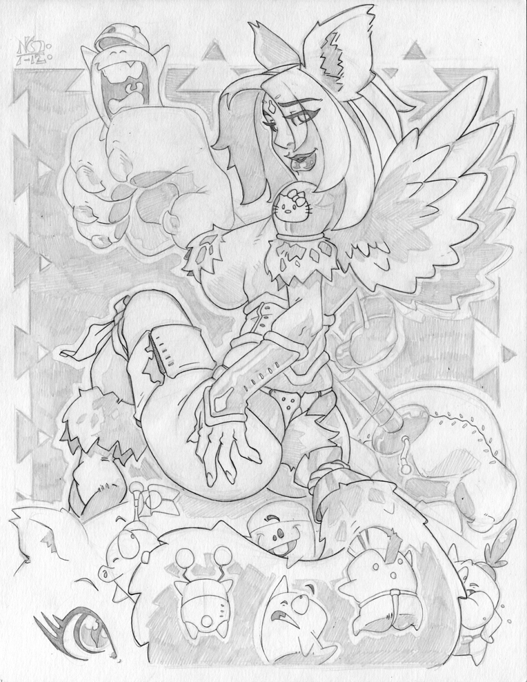 Catgirl w Wings