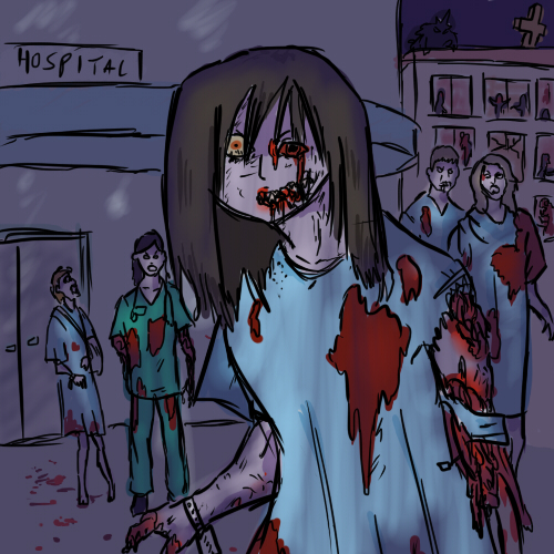 zombies overrun the hospital!