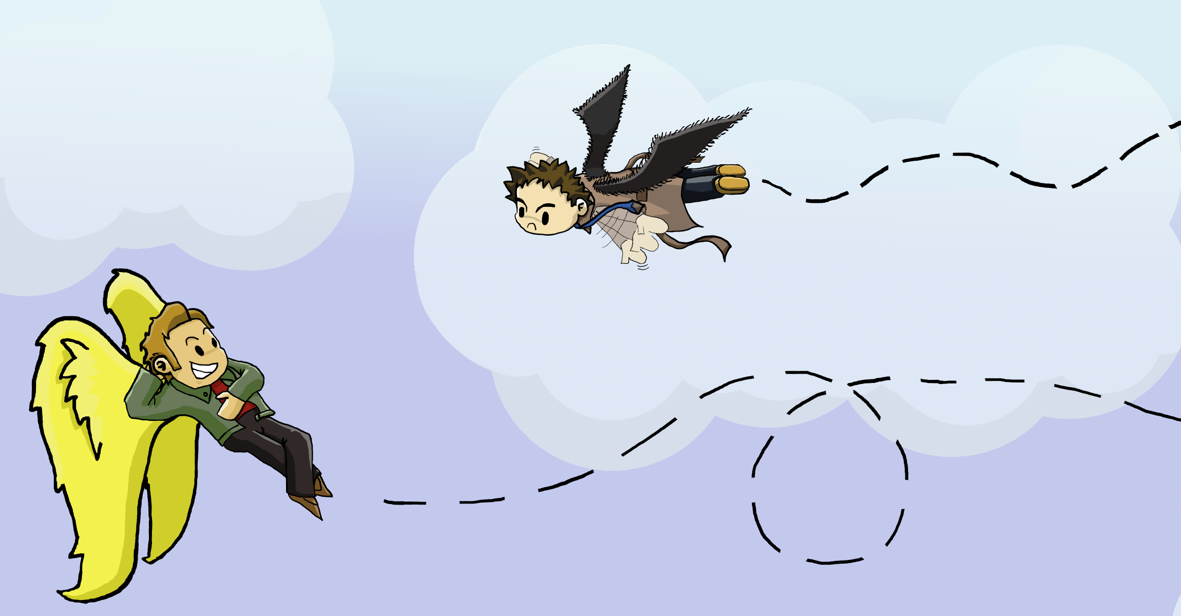 Castiel and Gabriel