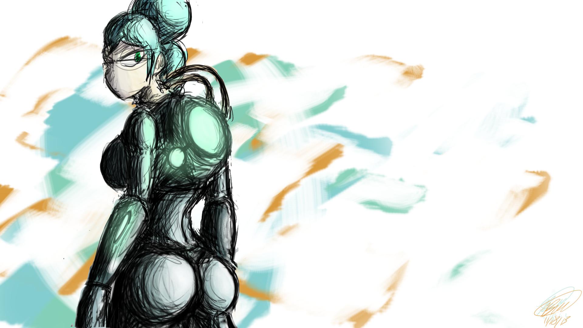 Woman in Futury Armor