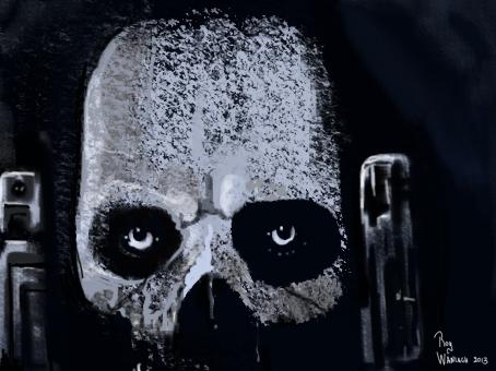 mask of aztec god of death
