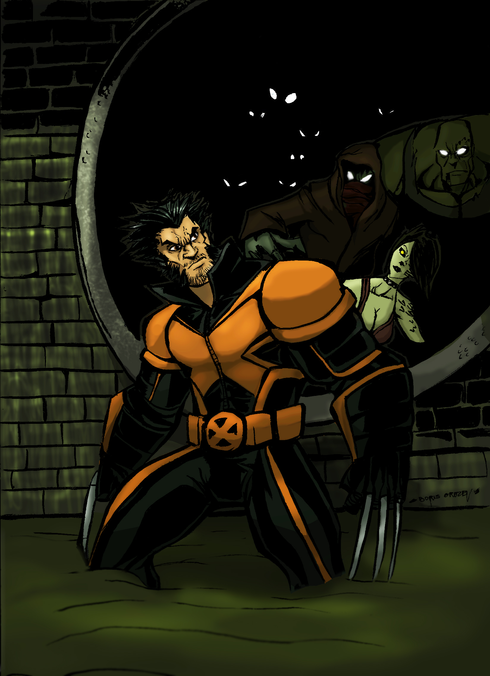 WOLVERINE IN THE SEWERS