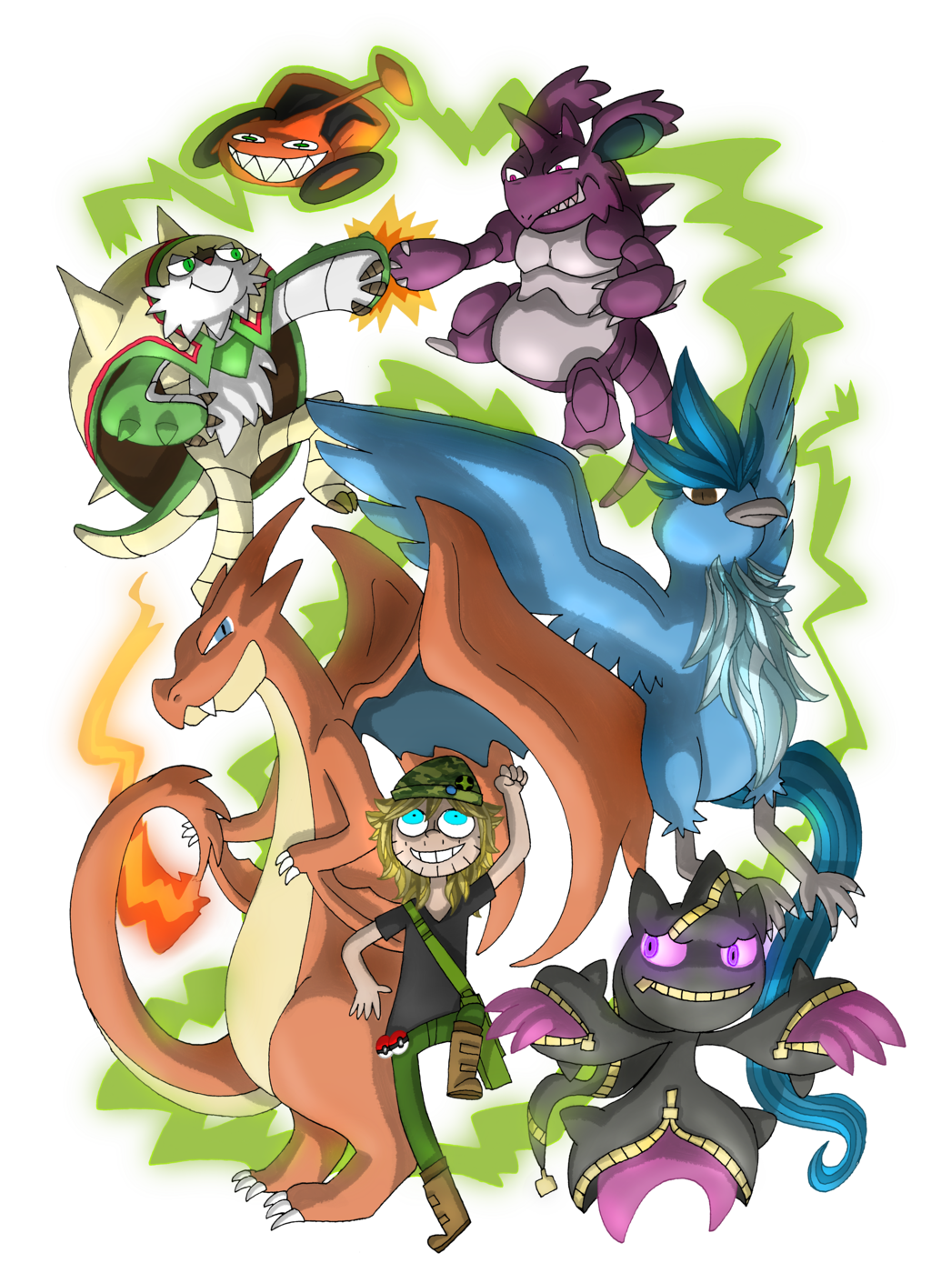 NEON POKEMON TEAM OF DOOM