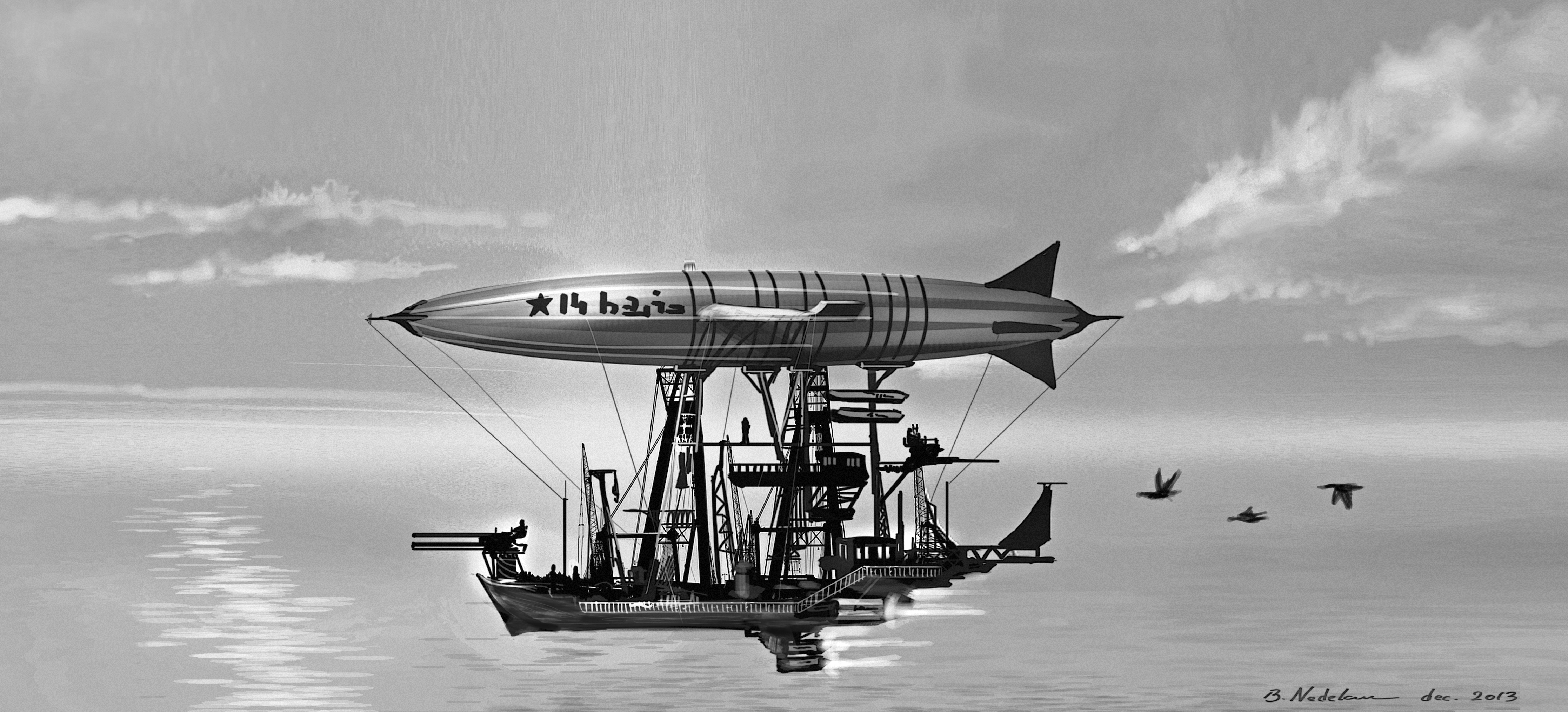 Zeppelin jet warship thing