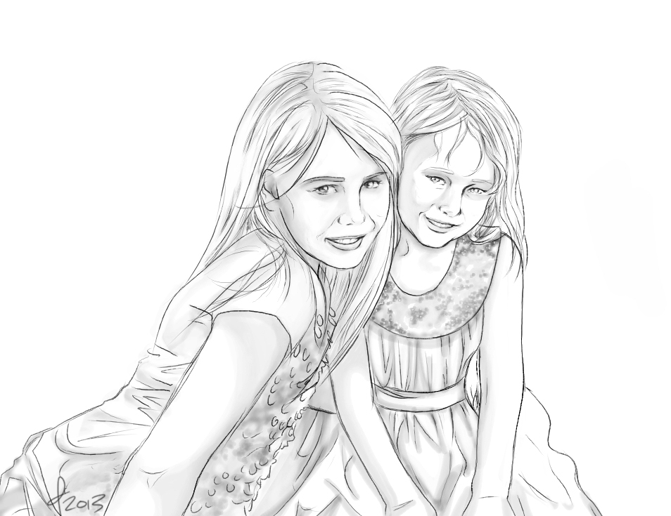 Commission: Young Girls