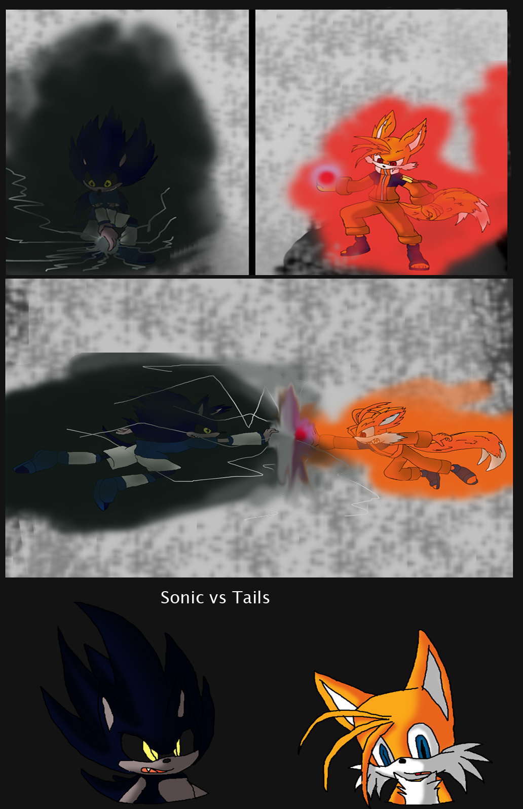 Sonic vs Tails Cross Naruto