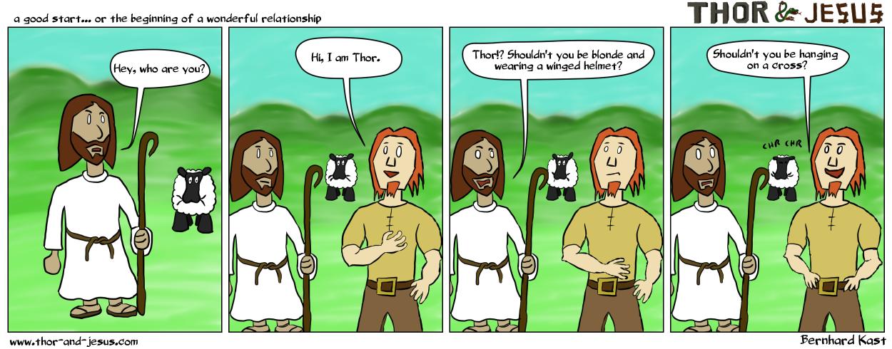 Thor & Jesus - 1st meeting