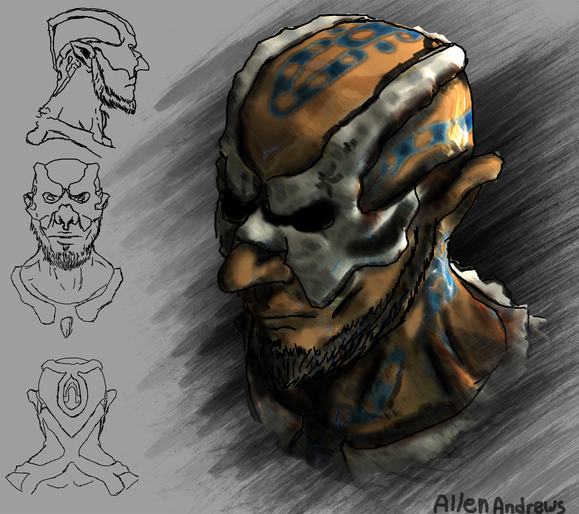 Witch Doctor Concept head