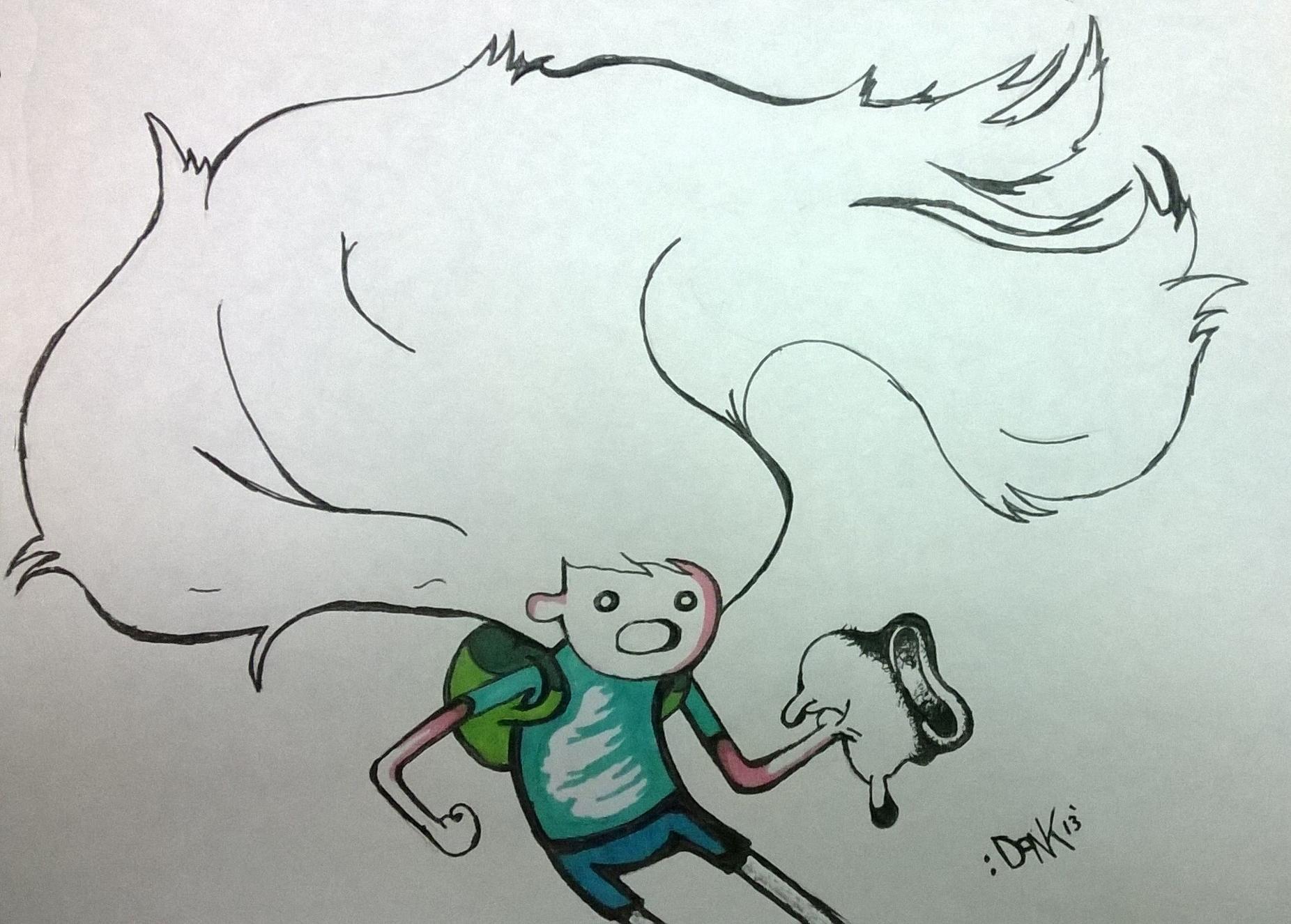 Finn's Hair vs mushroom-cloud