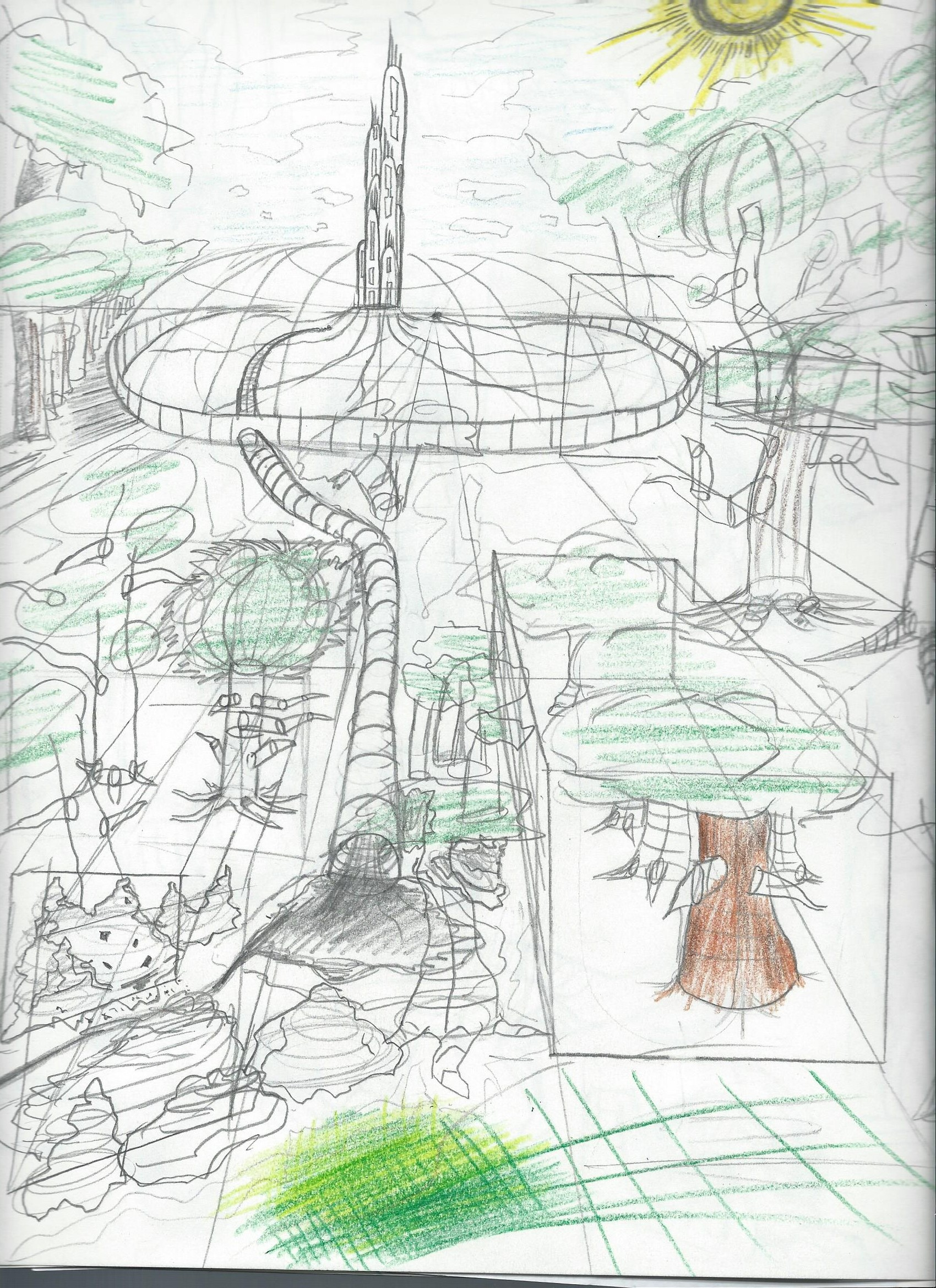 concept comic of painted world
