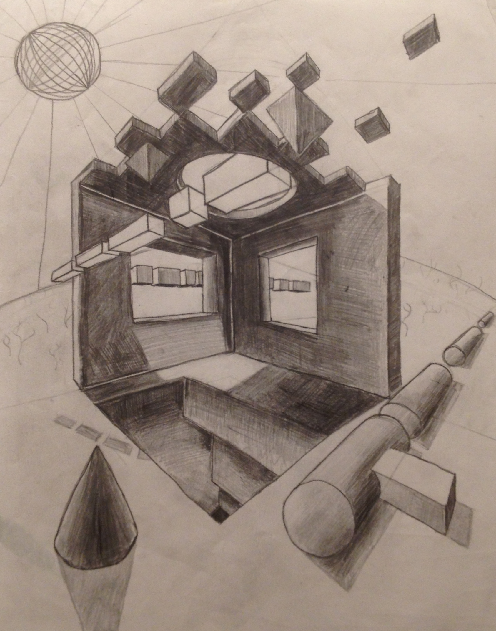 AP art Perspective exercise