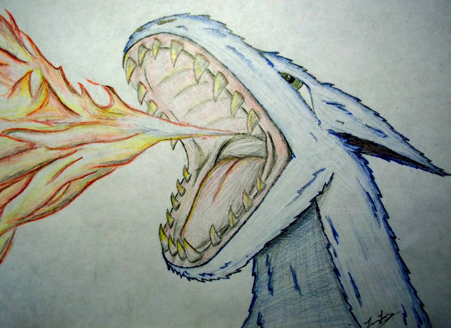 Fire-Breathing Dragon Original