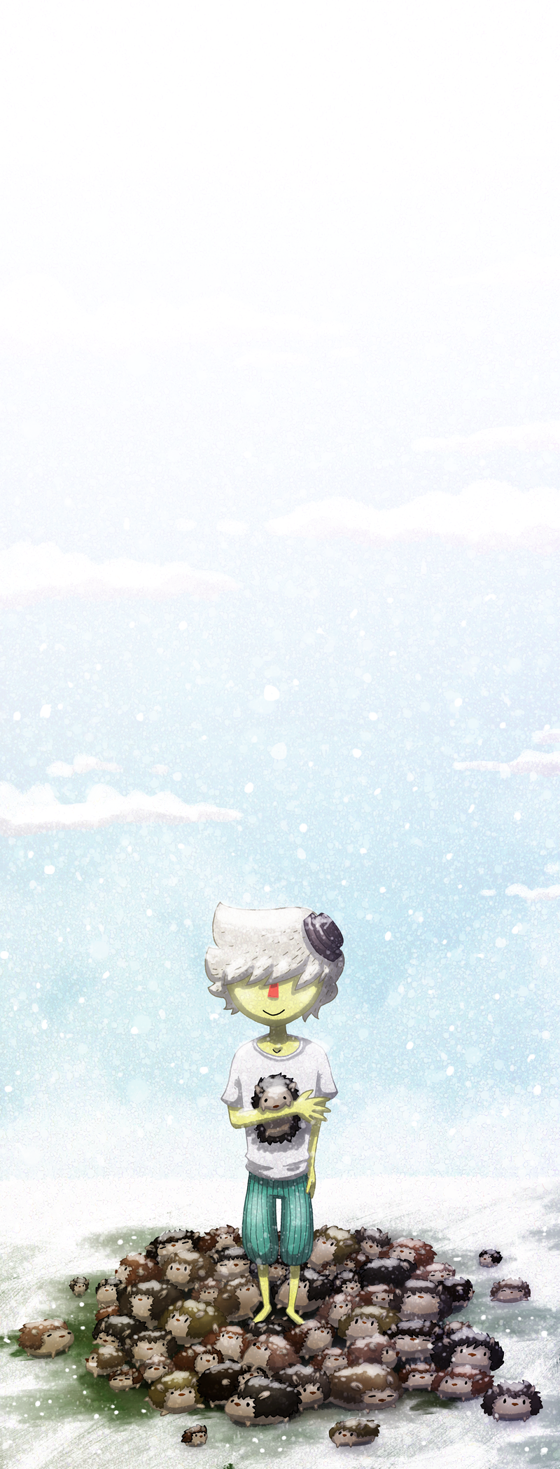 Hedgehogs and snow